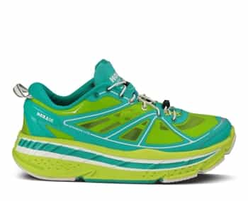 Womens Hoka STINSON LITE Road Running Shoes - Acid / Aqua / White