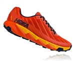 Mens Hoka One One TORRENT trail running shoes - Tangerine Tango / Old Gold