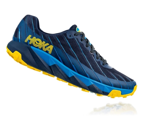 Mens Hoka One One TORRENT trail running shoes - Moonlit Ocean / Dresden Blue