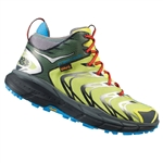 Mens Hoka TOR SPEED 2 WP Mountain Running Shoes - Black / Dark Shadow / Bright Green