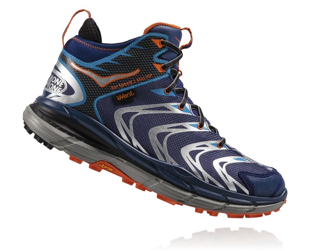 b42aff1438e26 Men's Hoka TOR SPEED 2 WP Shoes - Medieval Blue / Red Orange