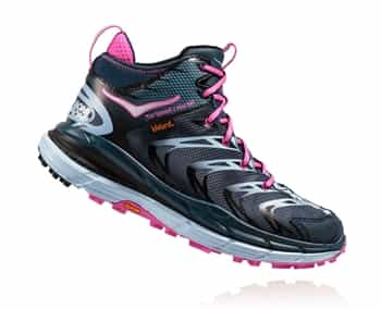 Womens Hoka TOR SPEED 2 WP Mountain Running Shoes - Midnight Navy / Neon Fuchsia