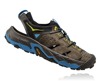 Mens Hoka TOR TRAFA Trail Running Recovery Shoes - Major Brown / Black Olive