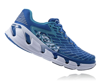 Mens Hoka VANQUISH 3 Road Running Shoes - Medieval Blue / Blue