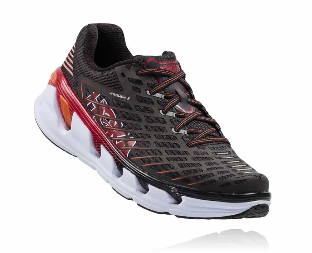 Hoka Shoes: VANQUISH 3 - Black / Formula One