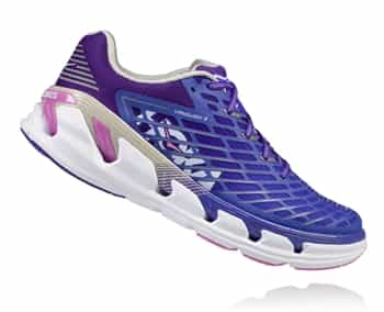 Womens Hoka VANQUISH 3 Road Running Shoes - Simply Purple / Micro Chip