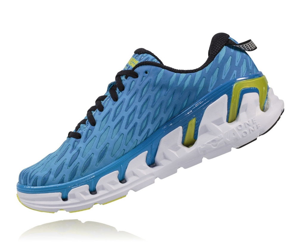 1f7890e8b75091 Men s Hoka VANQUISH 2 Road Running Shoes - Cyan   Citrus ...