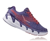 Womens Hoka VANQUISH 2 Road Running Shoes - Corsican Blue / Poppy Red