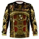 Mens INKnBURN STEAMPUNK Long Sleeve Tech Running Shirt