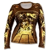Womens INKnBURN STEAMPUNK Long Sleeve Tech Running Shirt