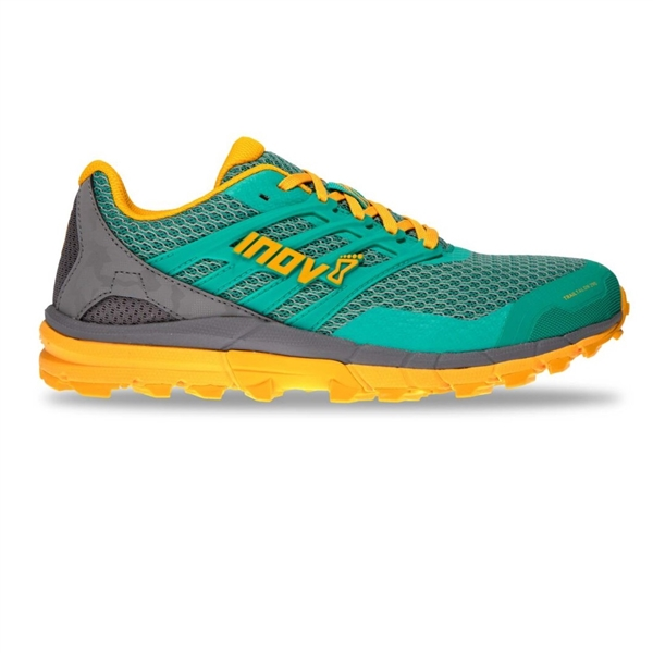 Womens Inov-8 TRAILTALON 290 V2 Trail Running Shoes - Teal / Grey / Yellow