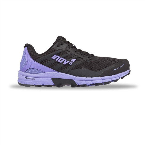 Womens Inov-8 TRAILTALON 290 Trail Running Shoes - Black / Purple