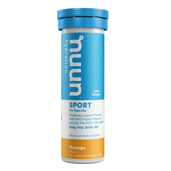 Nuun Sport Orange Electrolyte Tablets (1 tube)