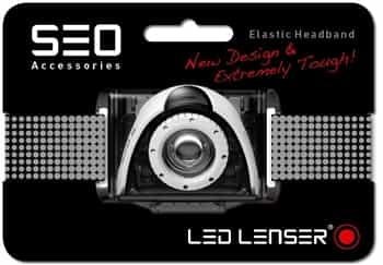 Black Headband for LED Lenser SEO Running Headlamps/Head Torches