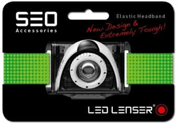 Green Headband for LED Lenser SEO Running Headlamps/Head Torches