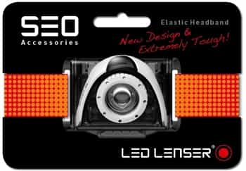Red Headband for LED Lenser SEO Running Headlamps/Head Torches