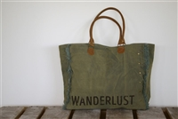 "Canvas ""Wanderlust"" Tote"
