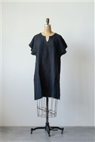 Linen Sophia Shift Dress / Tunic, Black