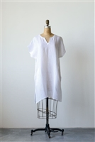 Linen Sophia Shift Dress / Tunic, White