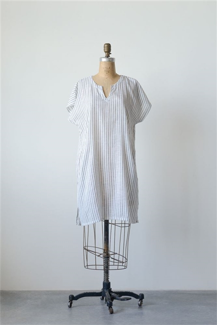 Cotton Sophia Shift Dress / Tunic, Stripe