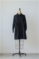 Cotton Madelyn Dobby Dress / Tunic, Black w/ Red