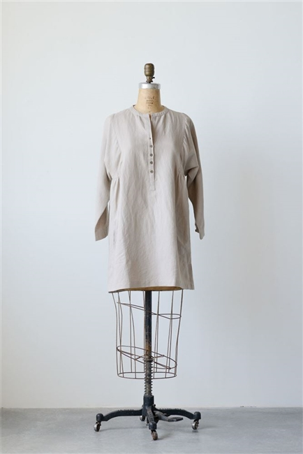Cotton Linen Nora Tunic, Natural