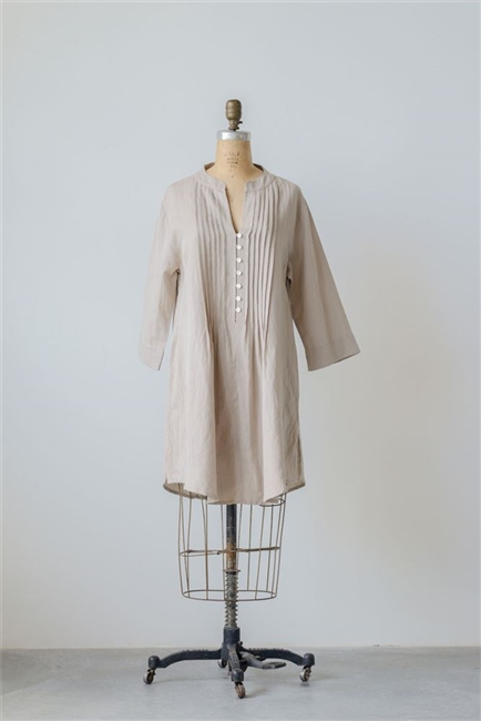 Cotton Linen Harper Tunic, Natural