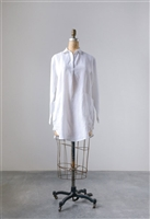 Linen Collar Lola Tunic, White