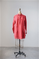 Linen Collar Lola Tunic, Red