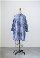 Cotton Madras Check Tunic, Blue