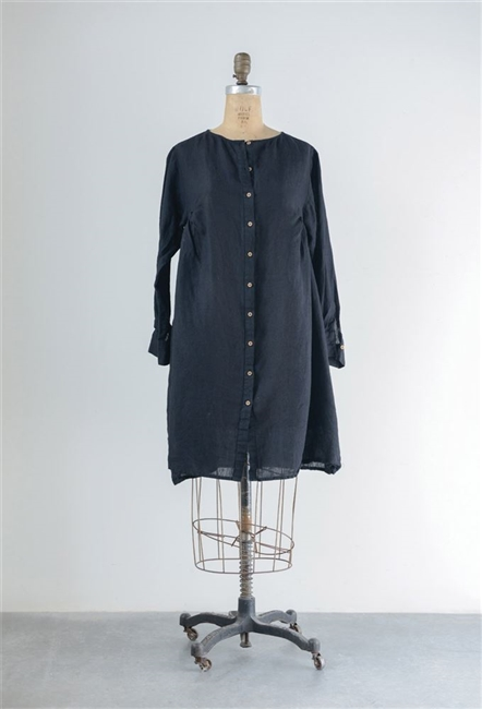 Linen Kimmy Tunic, Black