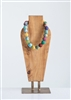 Cotton Woven Kantha Bead Vera Necklace