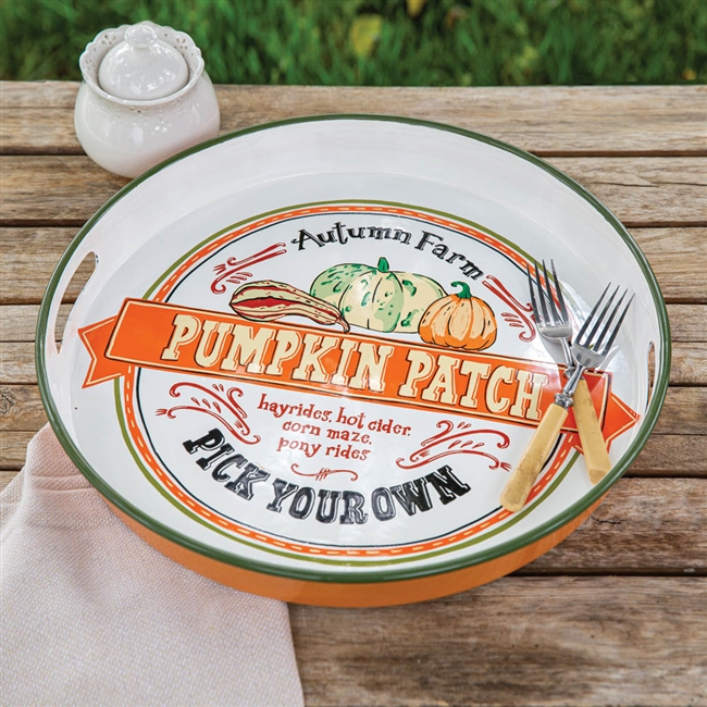 Pumpkin Patch Serving Tray