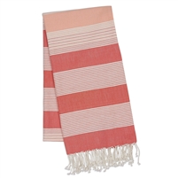 Coral Stripe Fouta Towel/Throw