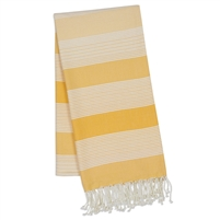 Yellow Stripe Fouta Towel/Throw