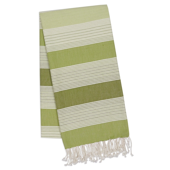 Green Stripe Fouta Towel/Throw