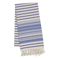 Indigo Stripe Fouta Towel/Throw