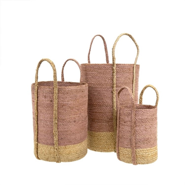 Jute Baskets: Set of 3