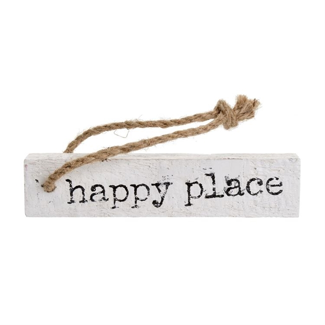 Happy Place Wooden Note