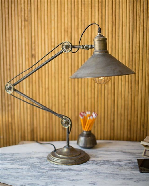Metal Industrial Drafting Table Lamp