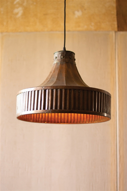 2nd Avenue Copper Pendant Fixture