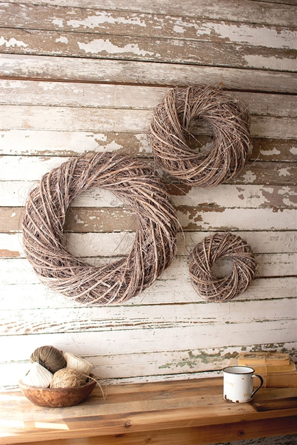 Vine Christmas Wreaths: Set of 3