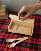 Wooden Forks with Wooden Box