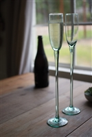 Sky High Glass Champagne Flute, Set of 6: Recycled Glass