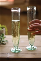Tall Recycled Glass Champagne Flute: Set Of 6