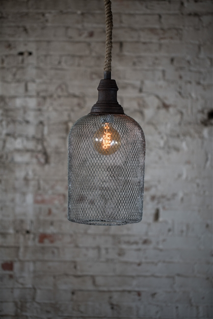 Wire Mesh Barnyard Bell Pendent