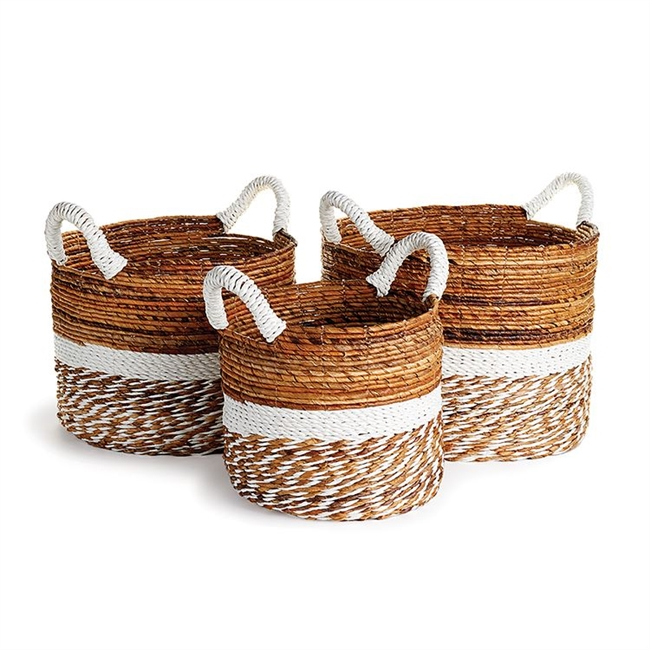 Key West Round Baskets: Set of 3