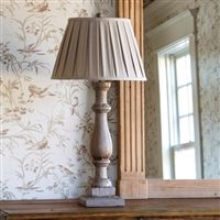 Painted Column Lamp