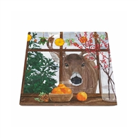 Hearth Time Deer Square Plate