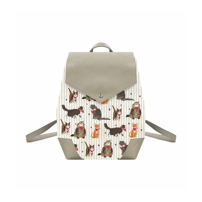 The Meow Meow Gang Canvas Backpack